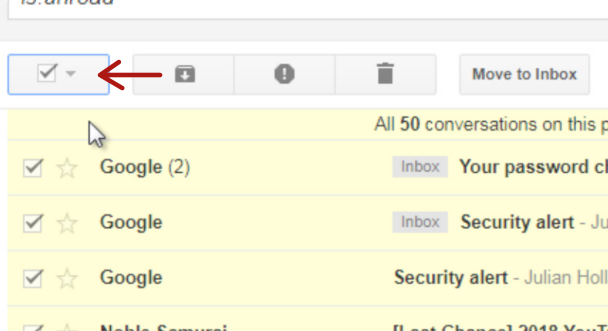 Gmail Select Emails