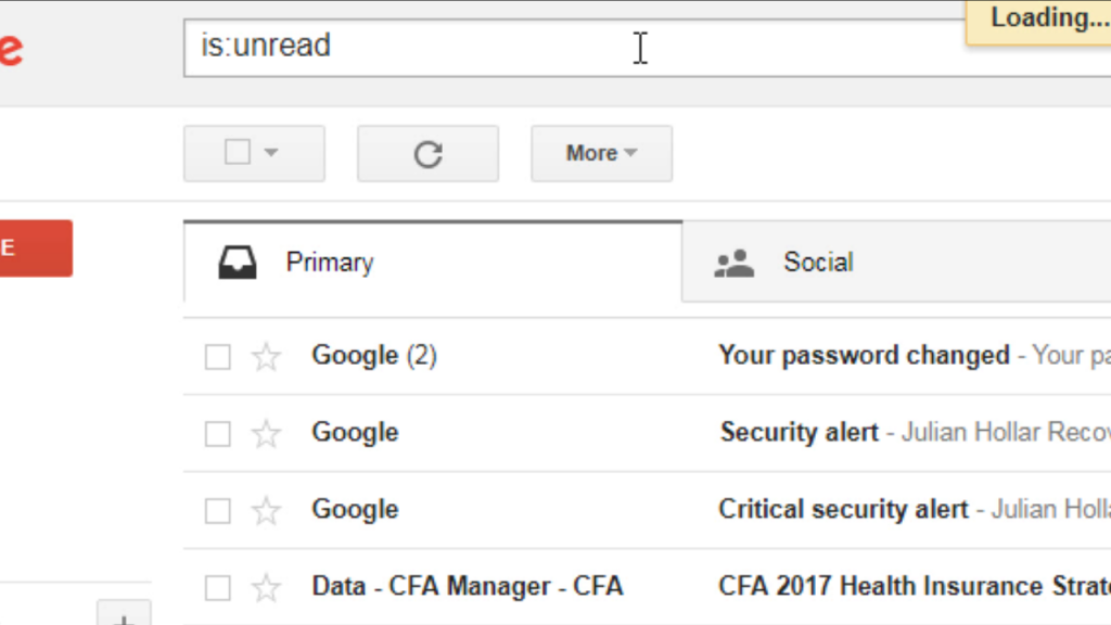 gmail unread messagessearch