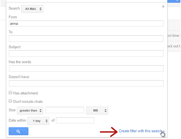 create gmail filter link