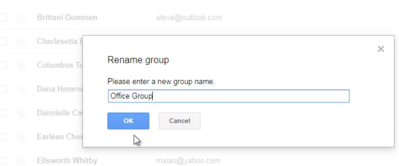 Rename group step 2