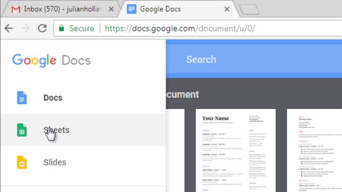 open google sheets