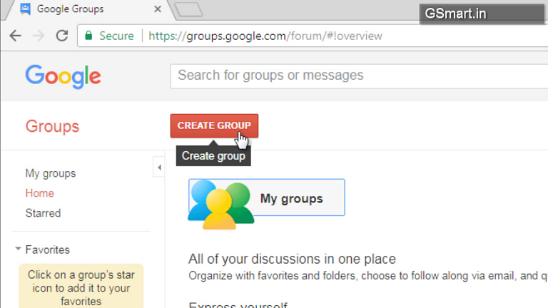 Create email group for gmail step 1