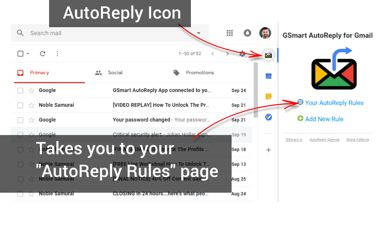 AutoReply App Chrome Extension