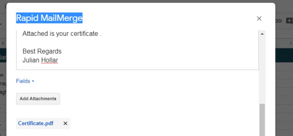 Attach files to MailMerge